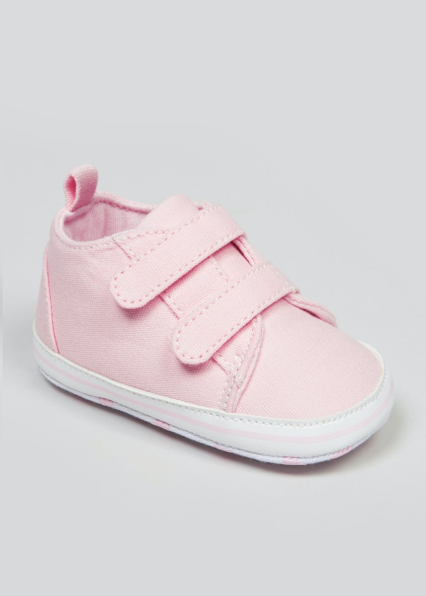 Unisex Soft Sole Canvas Baby Trainers (Newborn-18mths)