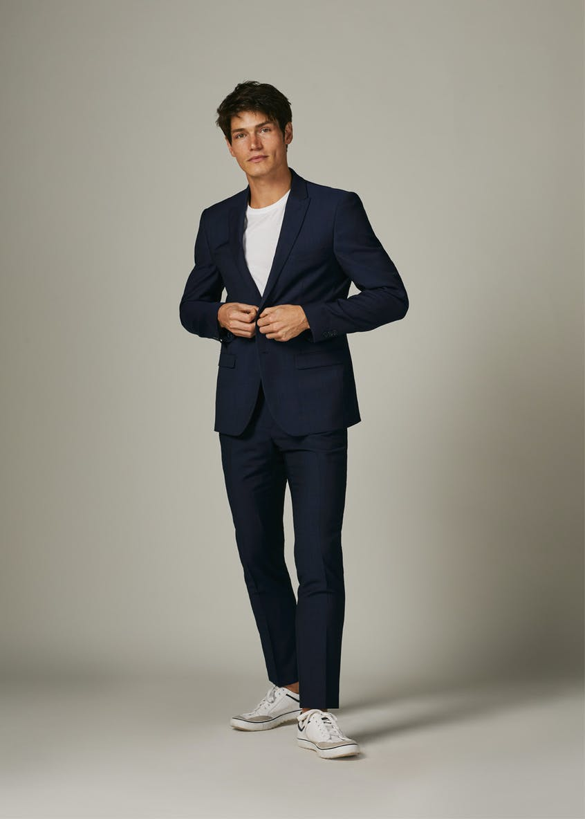 Newton Wool Blend Skinny Fit Suit Jacket