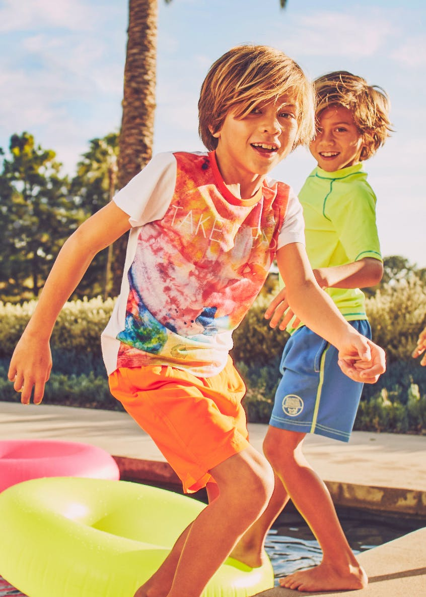 Boys Neon Swim Shorts (4-13yrs)