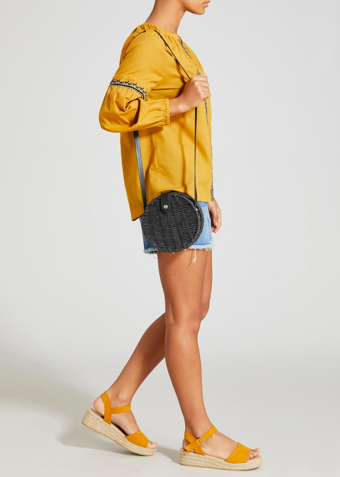 Straw Circle Cross-Body Bag