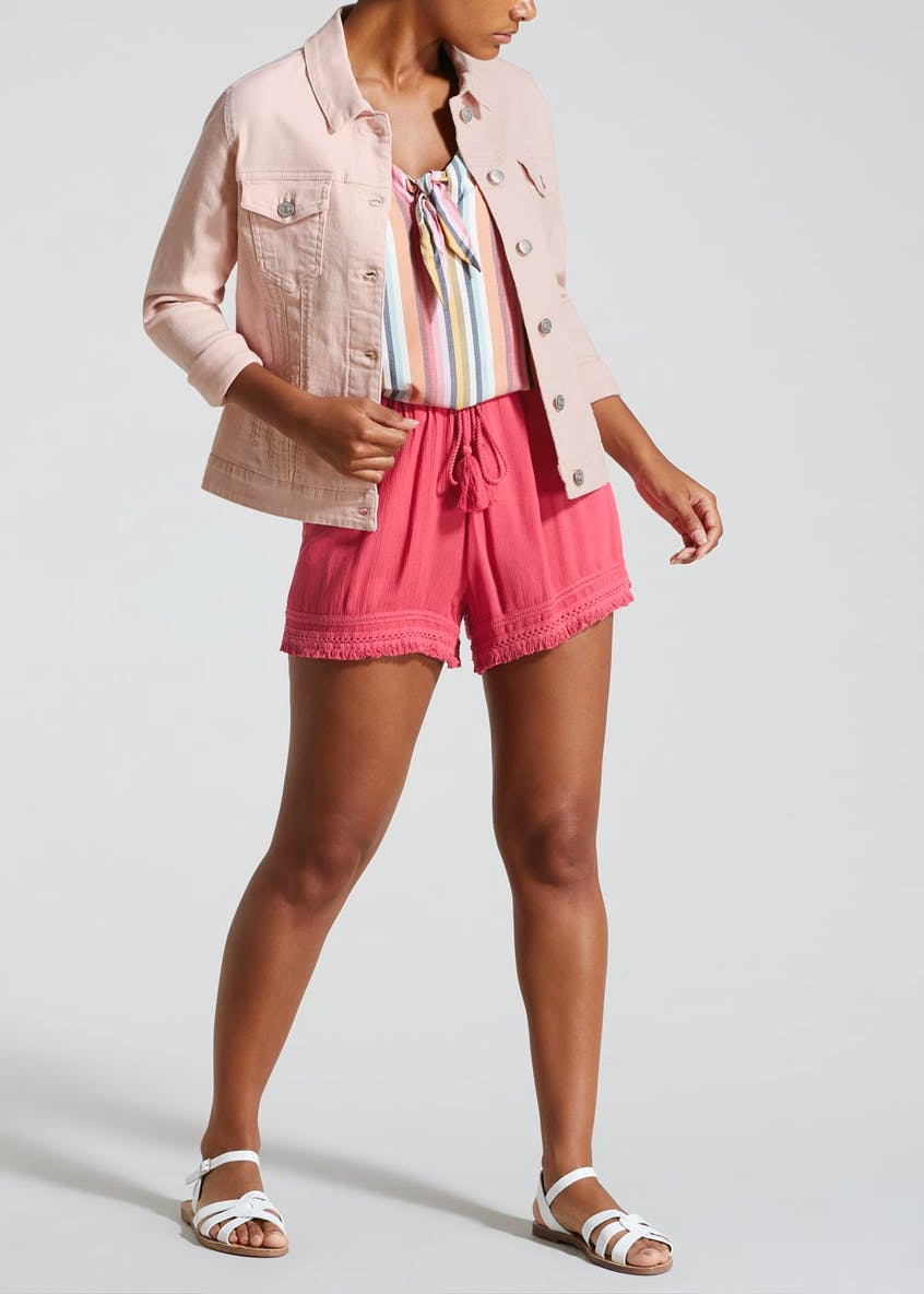 Bright Crinkle Viscose Shorts