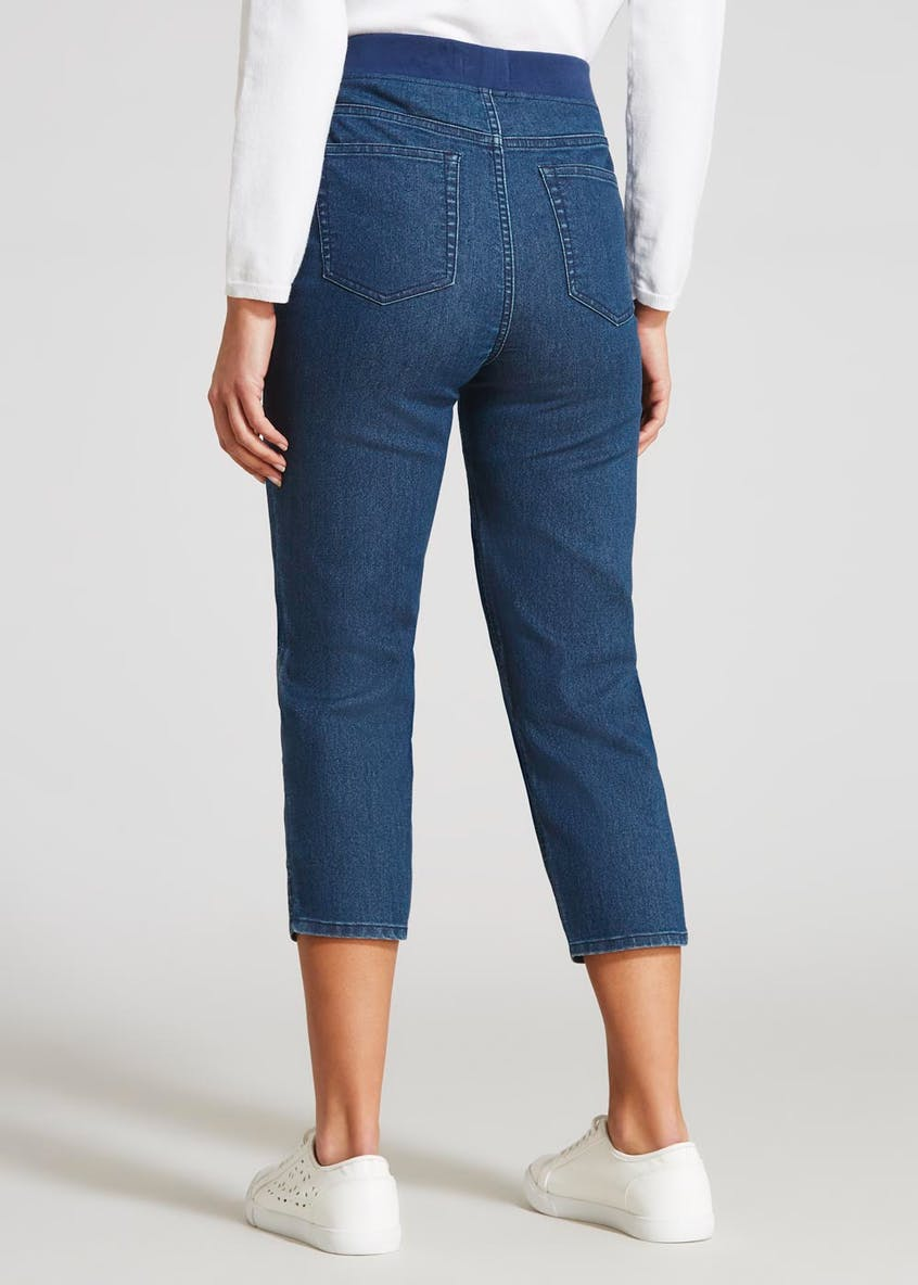 Pull On Cropped Jeans