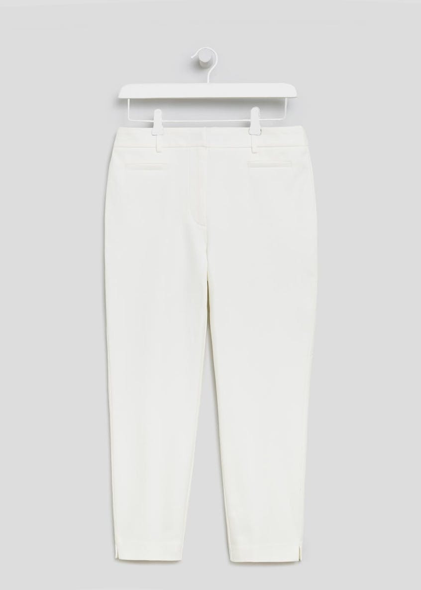 Soon Textured Formal Capri Trousers