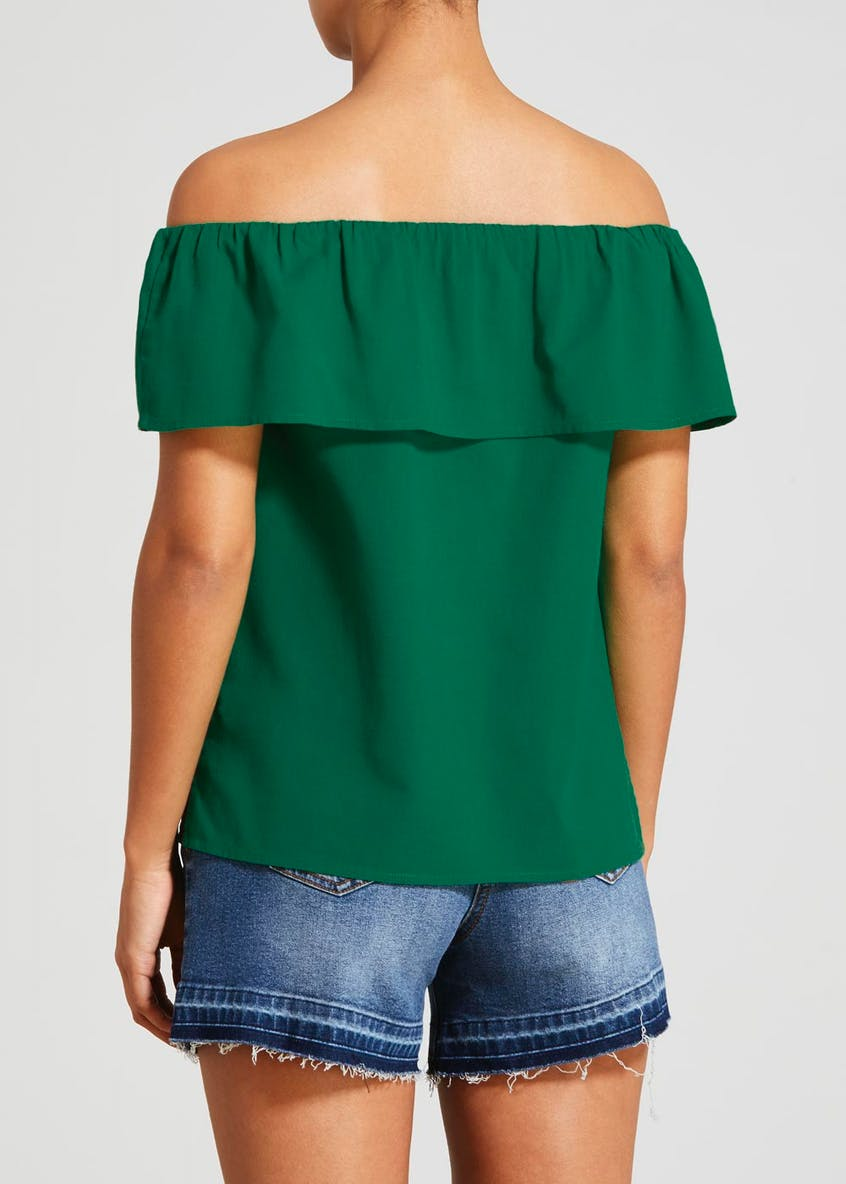 Button Front Bardot Blouse