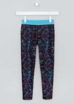 Girls Souluxe Laser Print Sports Leggings (4-13yrs)