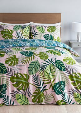 Reversible Tropical Print Duvet Cover