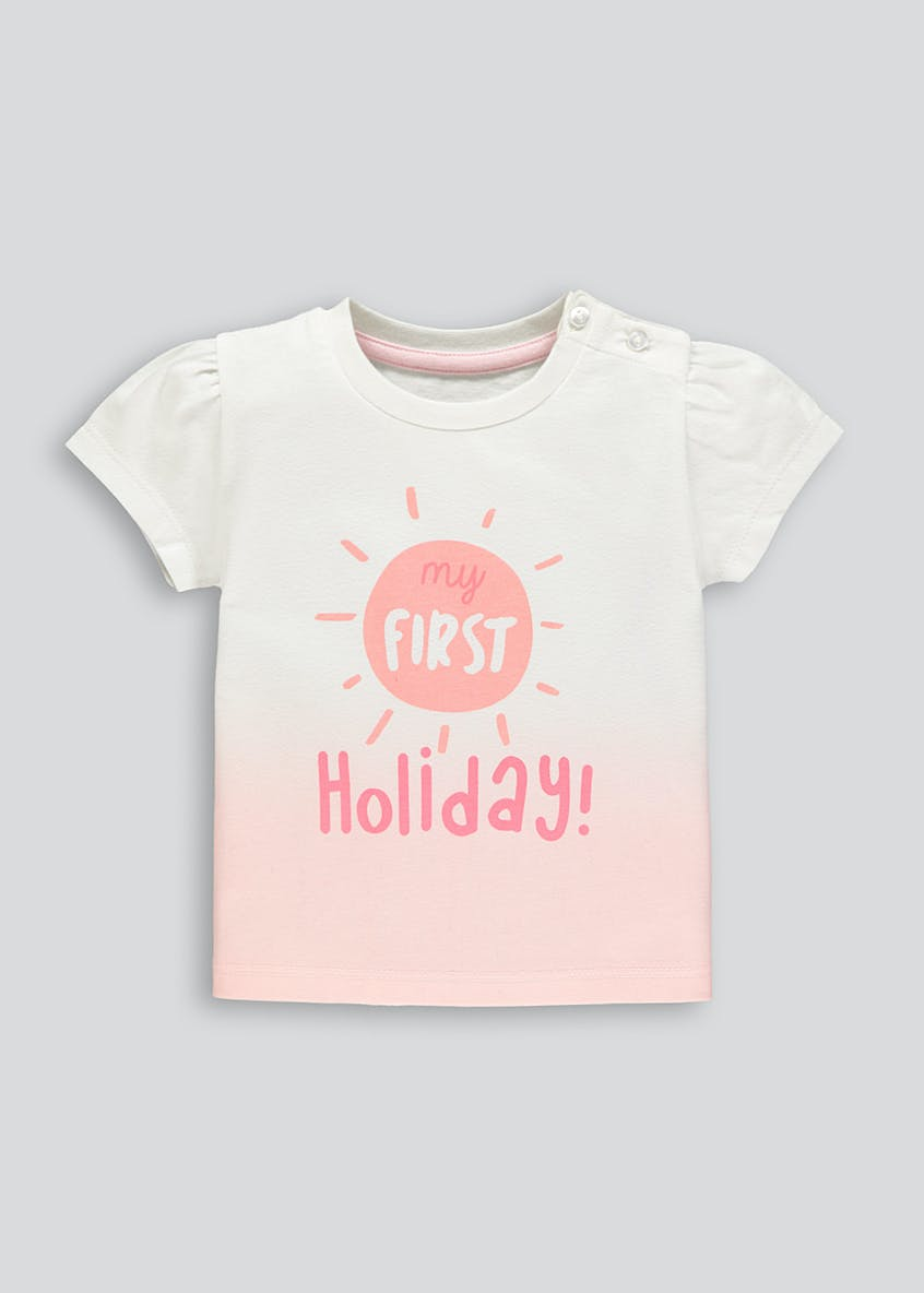 Kids My First Holiday T-Shirt (Tiny Baby-18mths)
