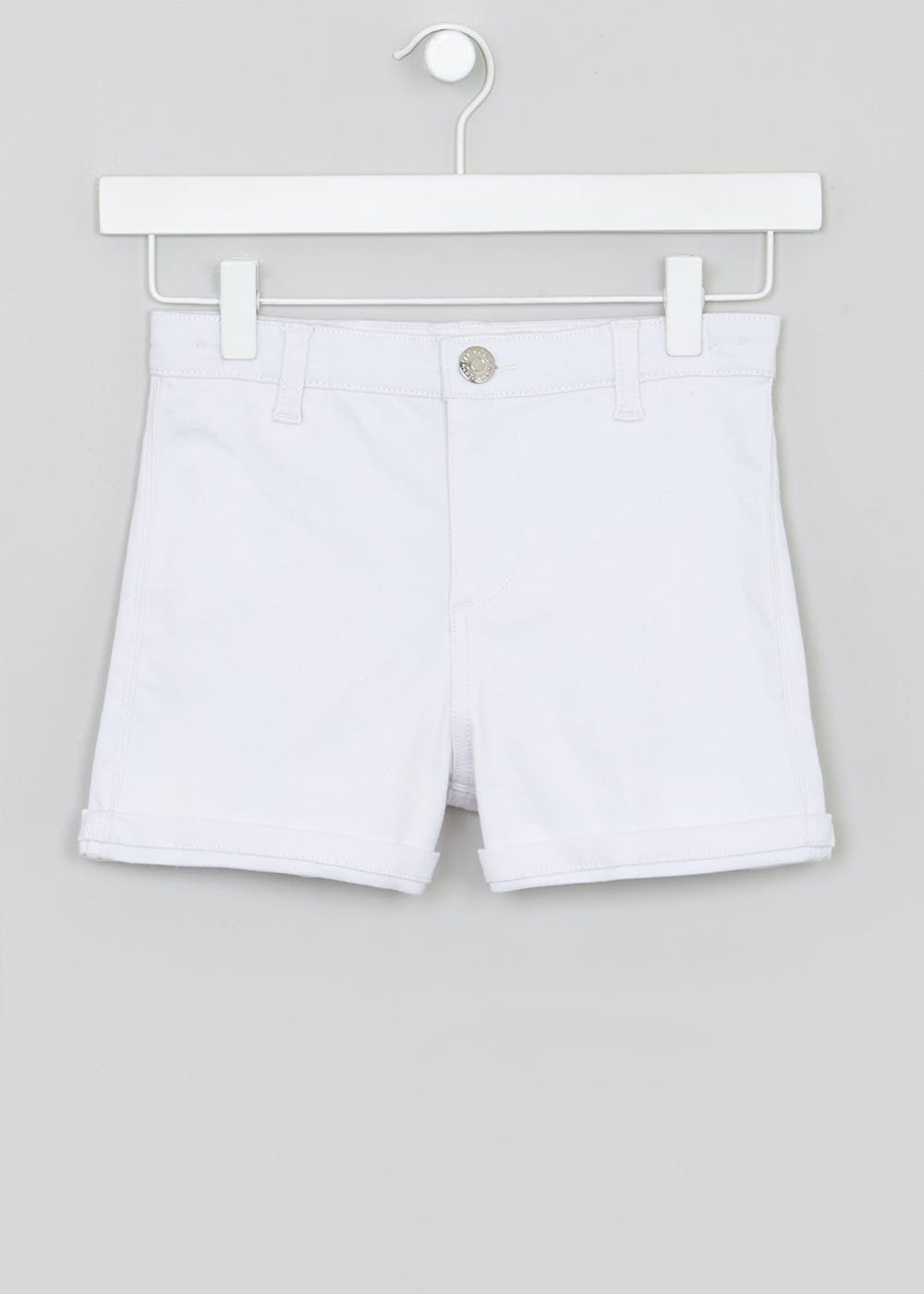 795294832 Girls Candy Couture High Waisted Denim Shorts (9-16yrs) – White ...