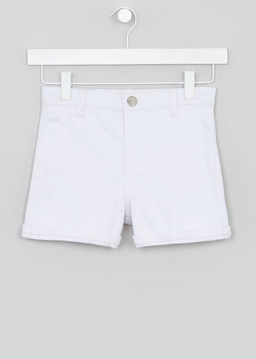 Girls Candy Couture High Waisted Denim Shorts (9-16yrs)