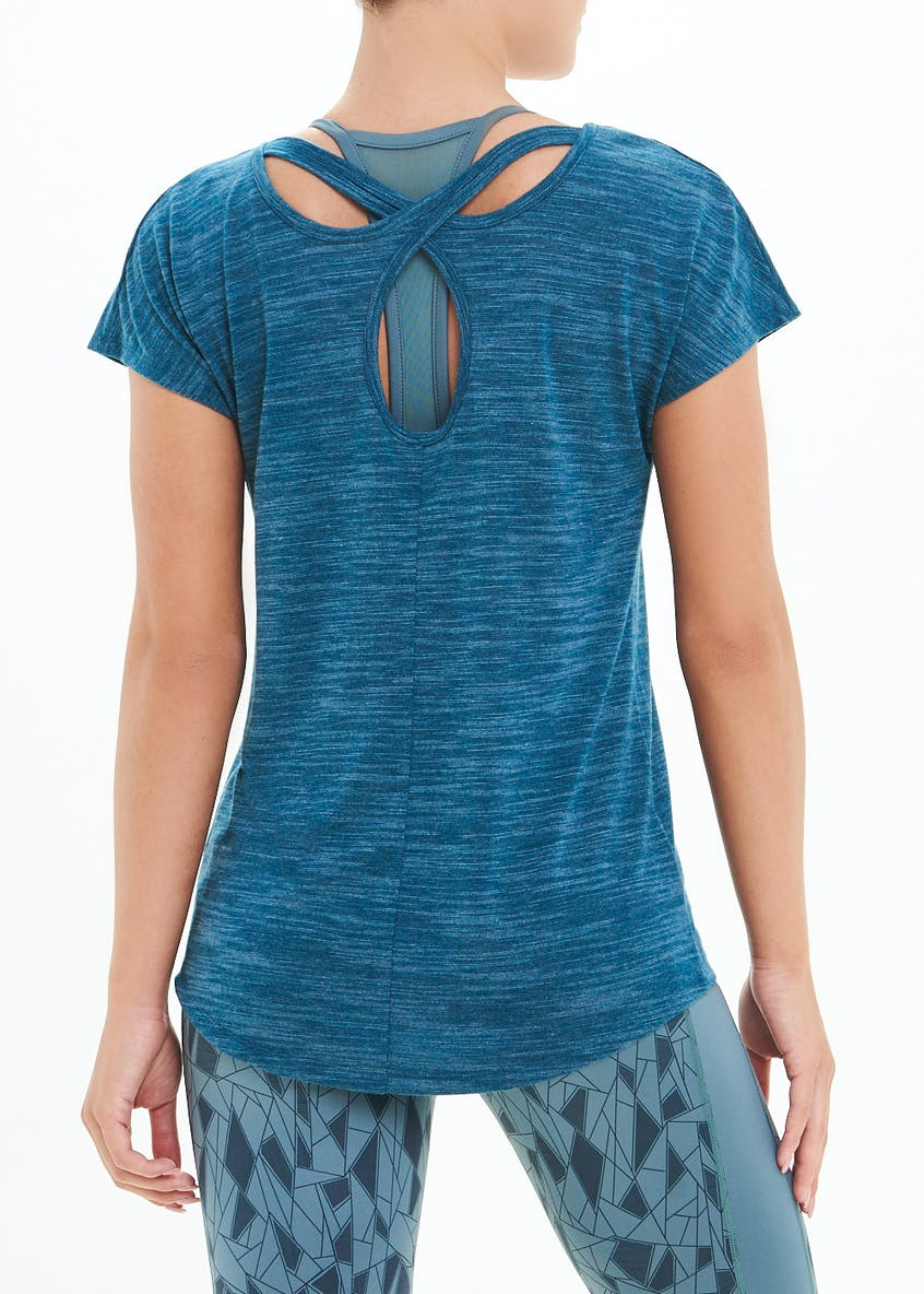 Souluxe Cross Back Gym T-Shirt