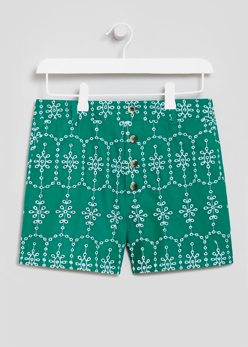Schiffley Embroidered Shorts
