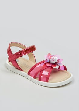 c98a8d254ea2 Girls Perspex Flower Sandals (Younger 4-12)