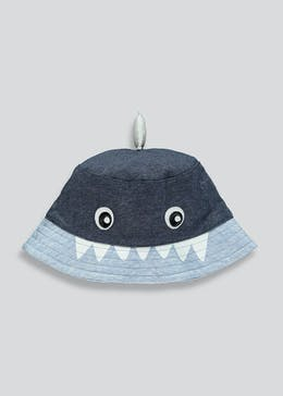 Unisex Shark Sun Hat (Newborn-23mths)