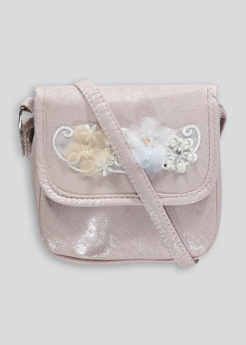 Girls Flower Trim Occasion Bag