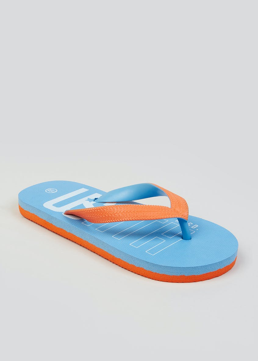 Kids Contrast Flip Flops (Younger 10-Older 6)