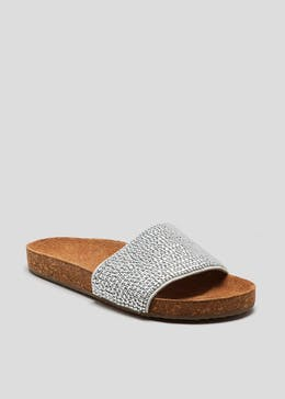 Soleflex Beaded Footbed Sandals