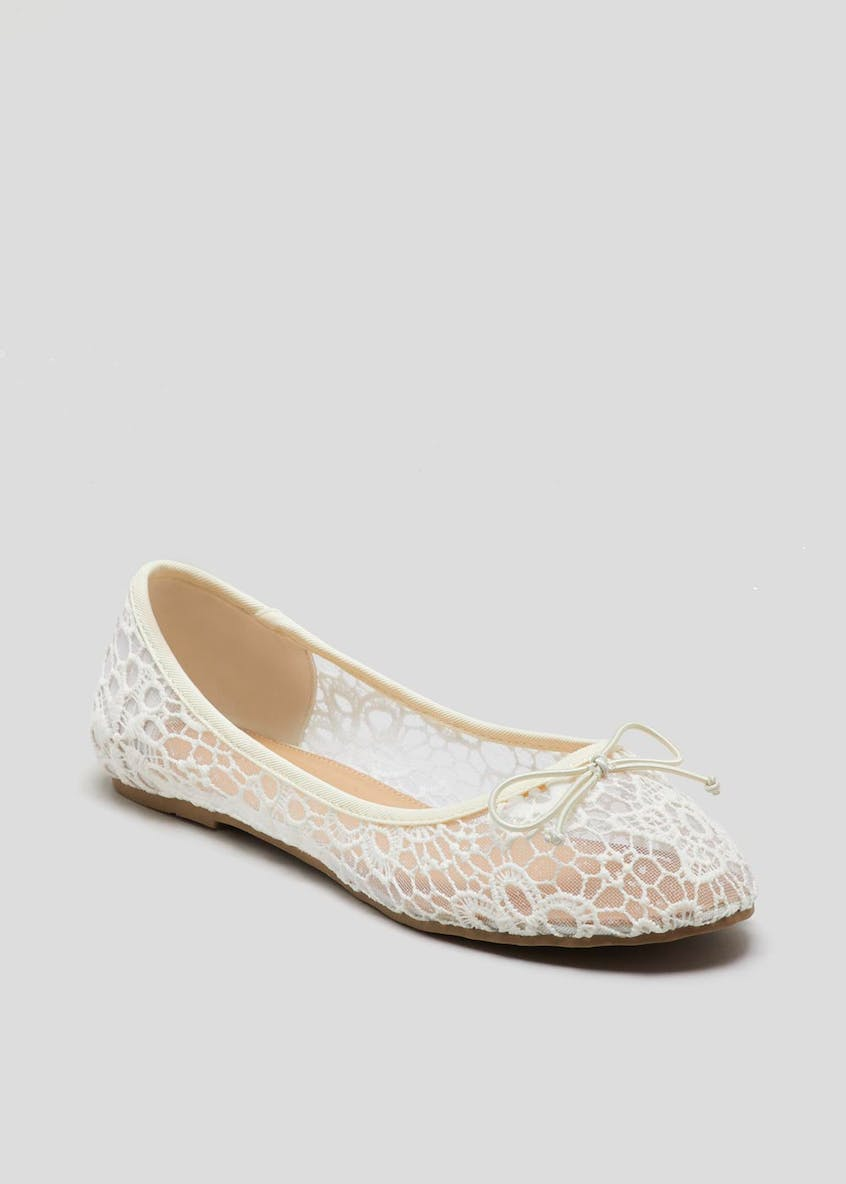 Wide Fit Crochet Ballet Shoes
