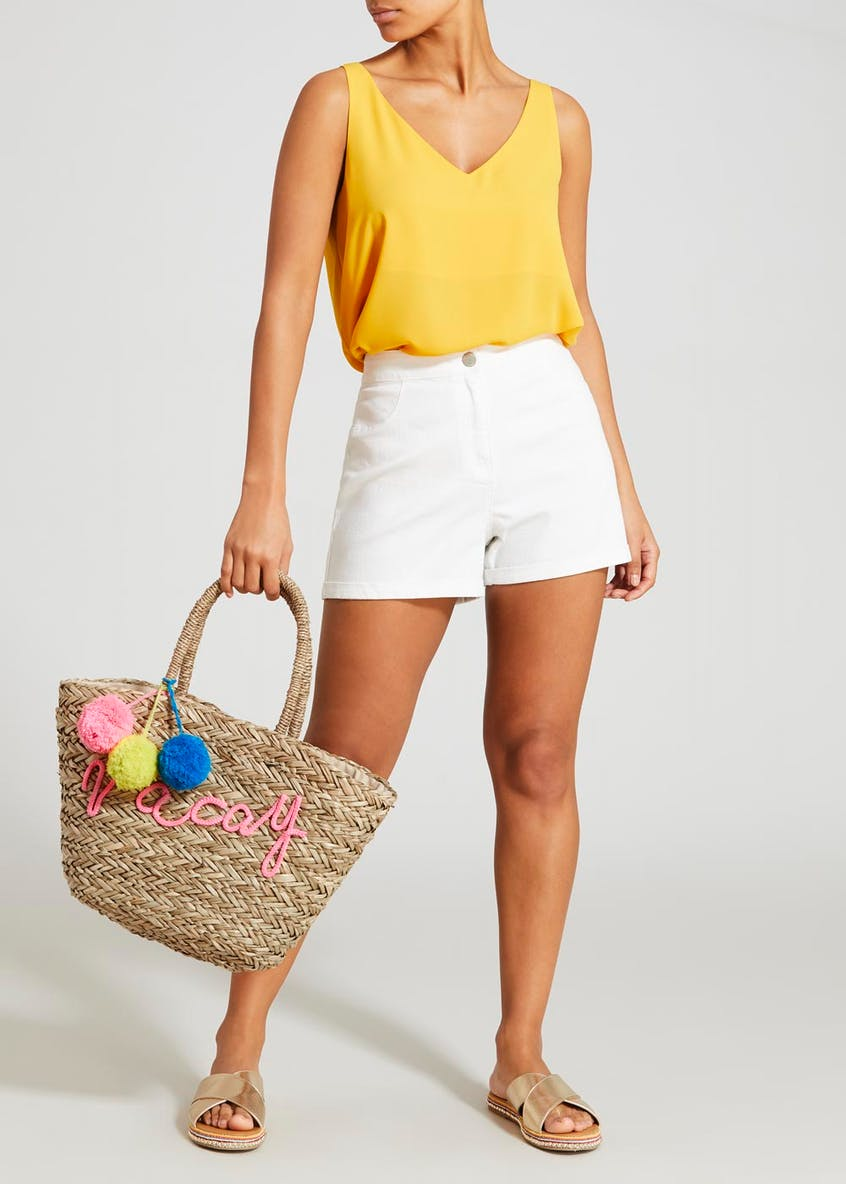 Vacay Straw Beach Bag