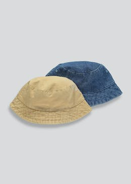 Unisex 2 Pack Sun Hats (5-13yrs)