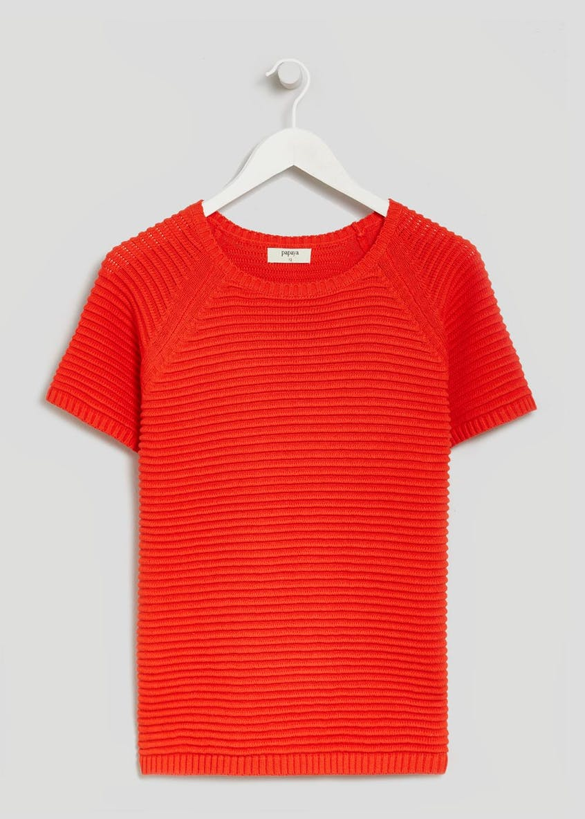 Ripple Stitch Knitted T-Shirt