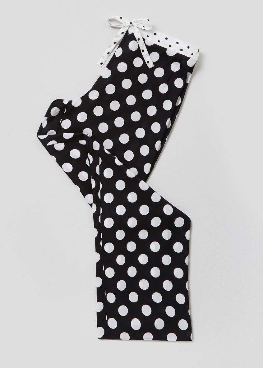 Polka Dot Wide Leg Pyjama Bottoms