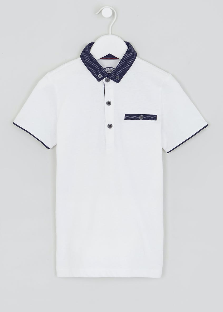Boys Woven Collar Polo Shirt (4-13yrs)
