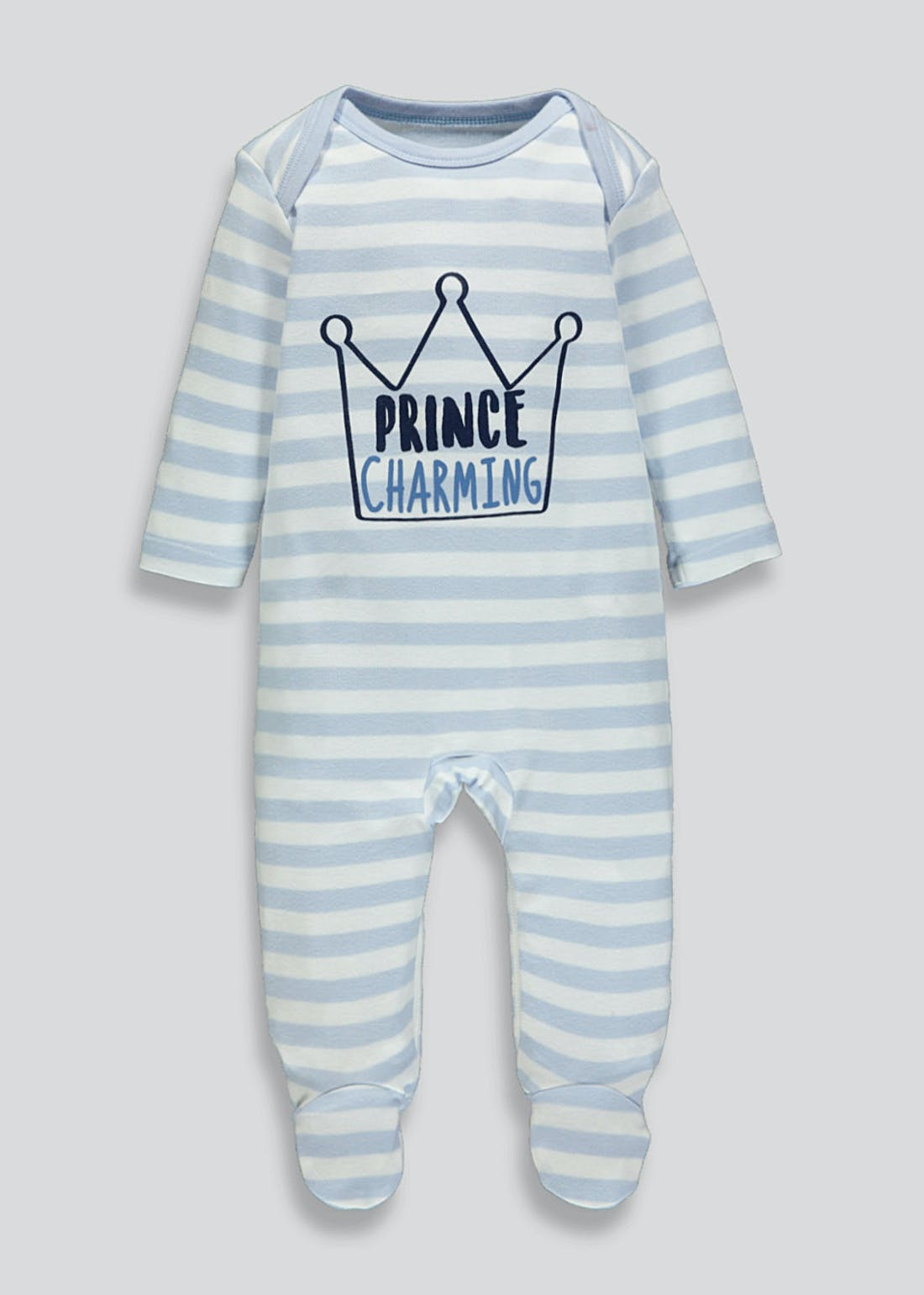 Boys Prince Charming Baby Grow (Tiny Baby-12mths)