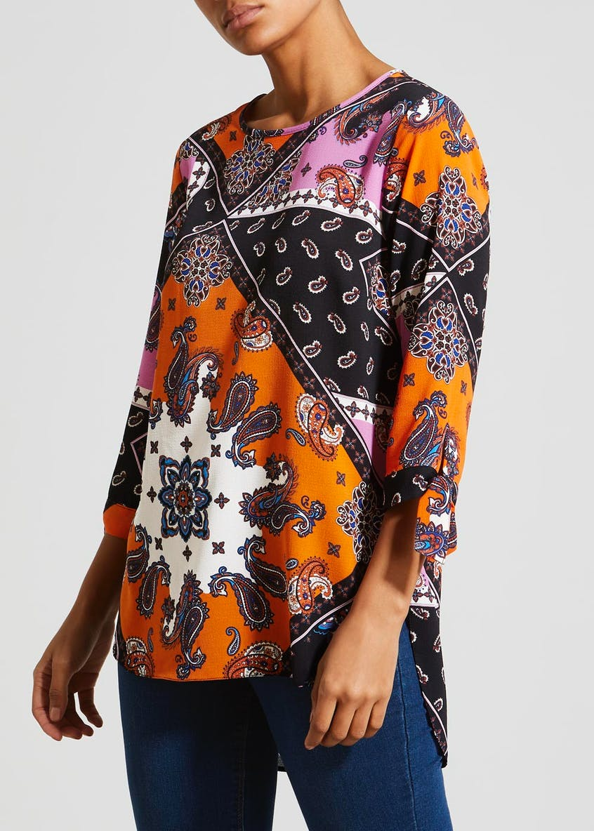 Paisley Tie Sleeve Box Top