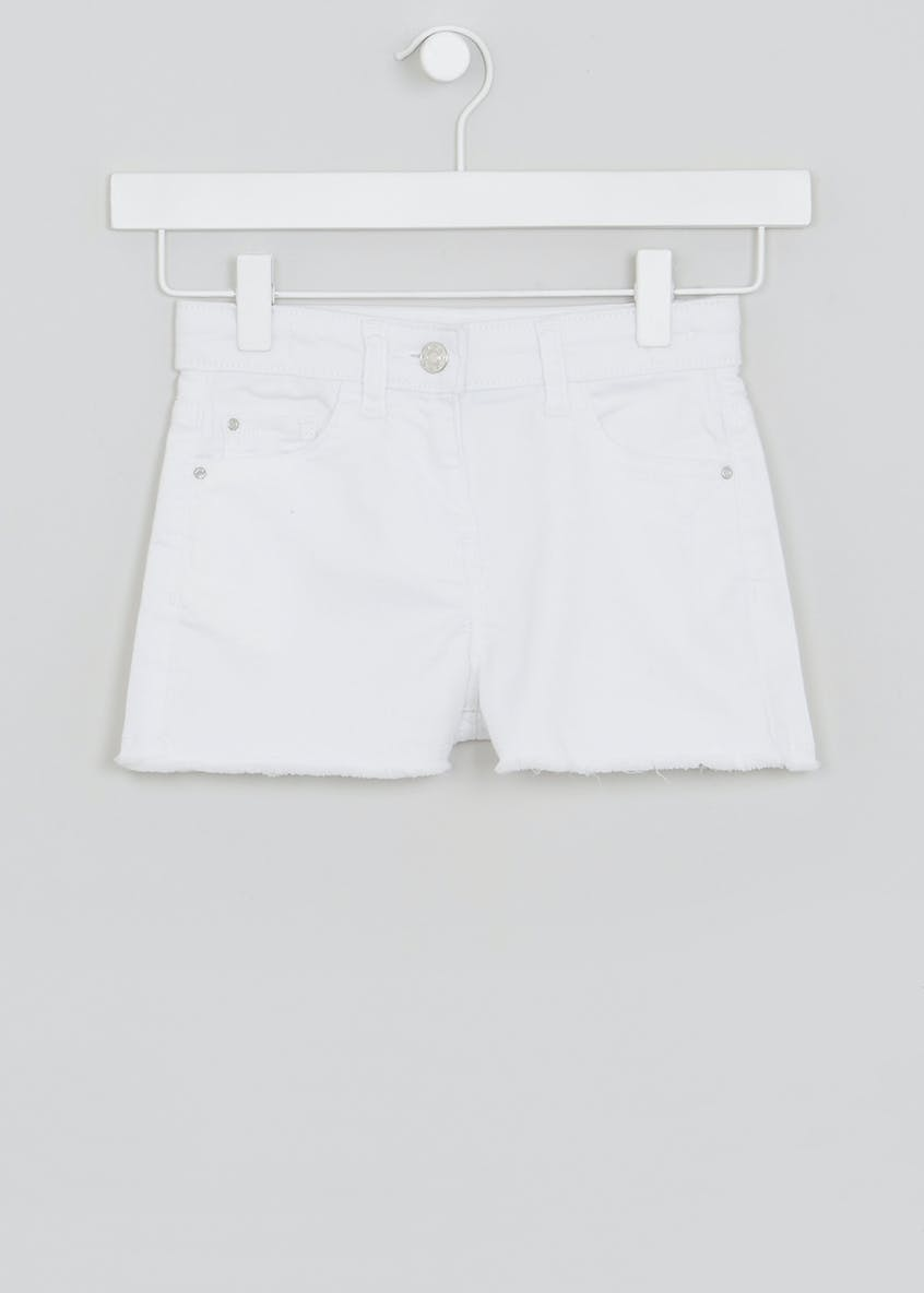 Girls Frayed Hem Denim Shorts (4-13yrs)
