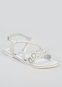 Girls Real Leather Sandals (Younger 5-Older 5)