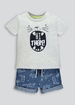 Boys T-Shirt & Shorts Set (Newborn-18mths)