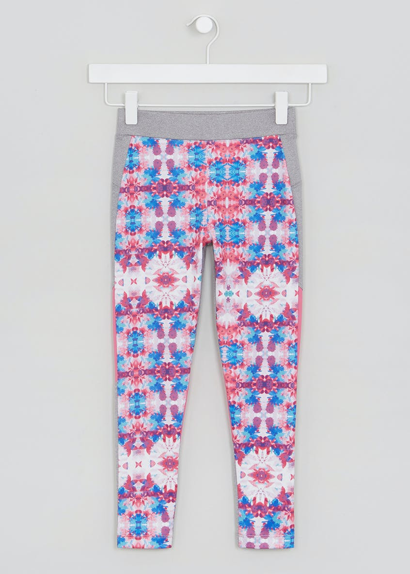Girls Souluxe Floral Sports Leggings (4-13yrs)