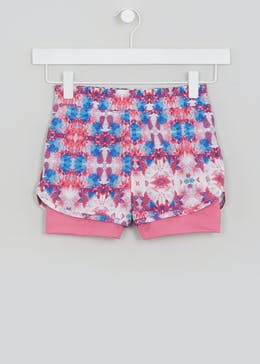 Girls Souluxe Floral Sports Shorts (4-13yrs)