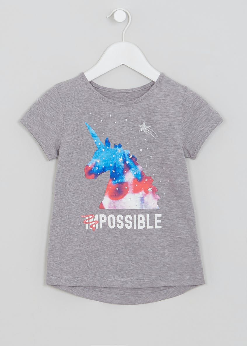 Girls Souluxe Unicorn T-Shirt (4-13yrs)