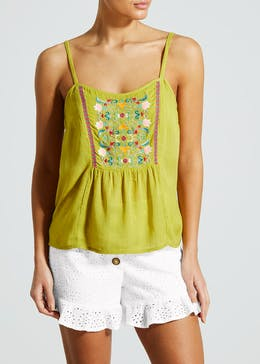 Falmer Embroidered Metallised Cami
