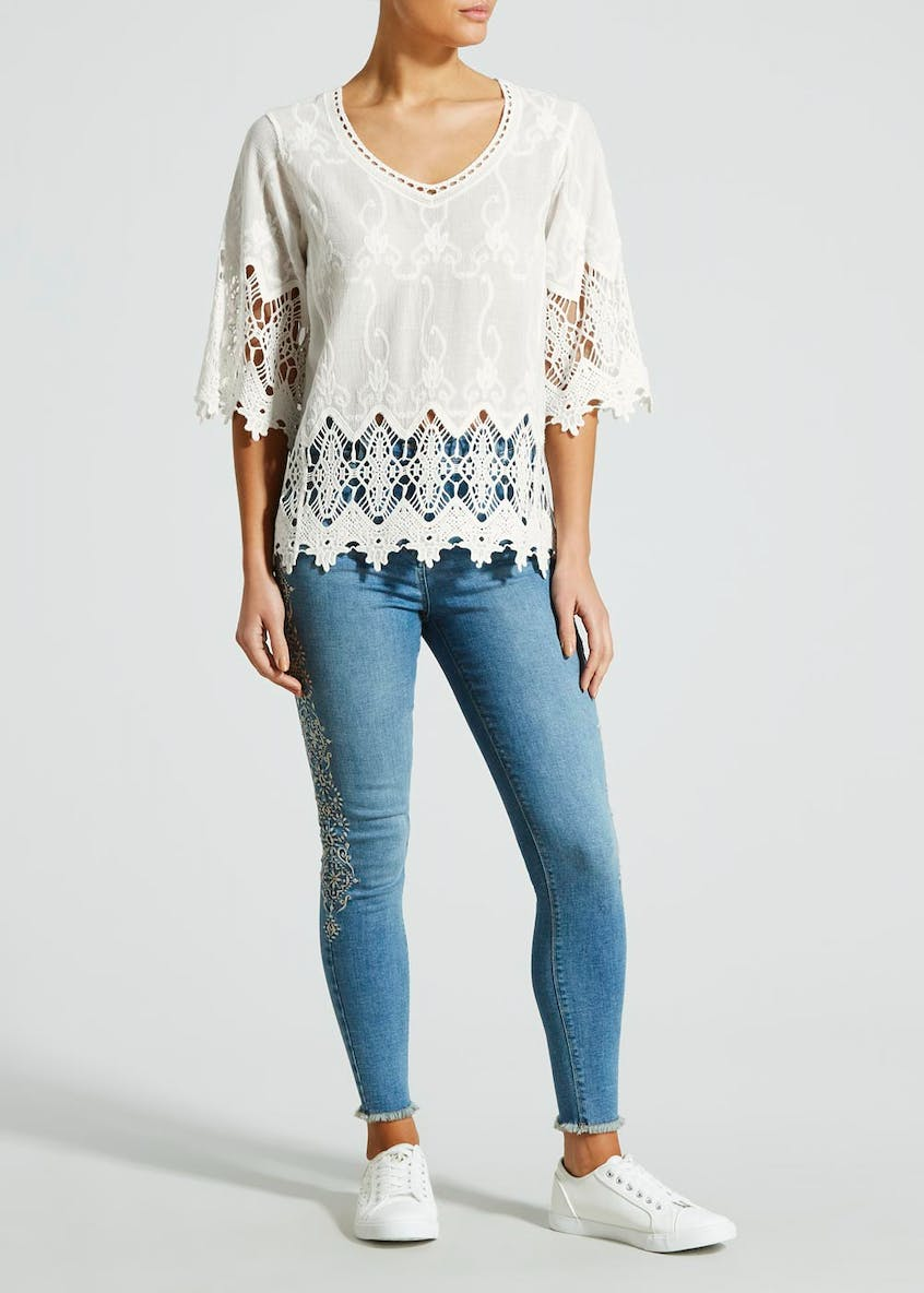 Falmer Lace Knitted Top