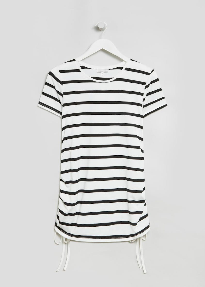 Maternity Stripe Ruched Side Top
