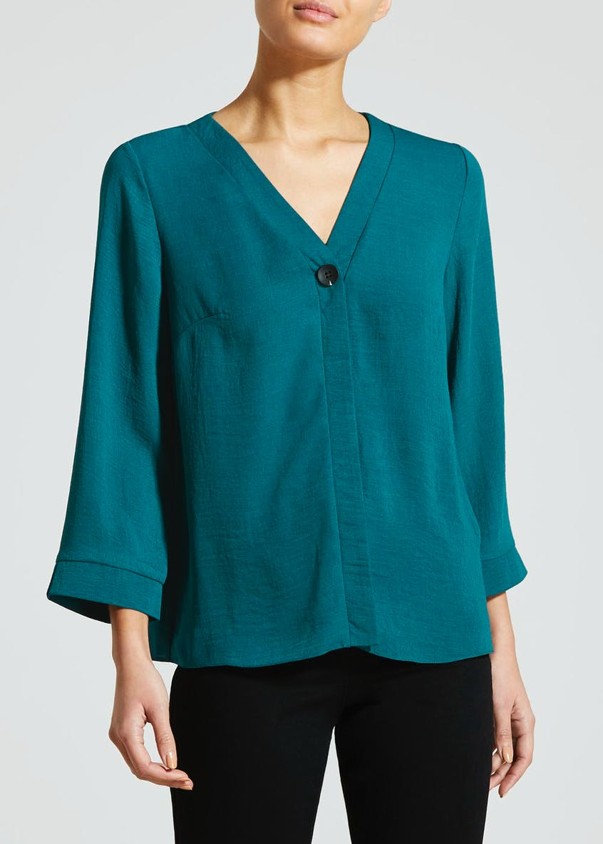 Fluted Button Blouse