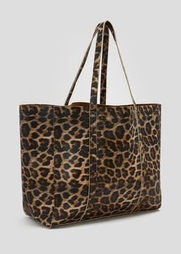Leopard Print Oversized Tote Bag