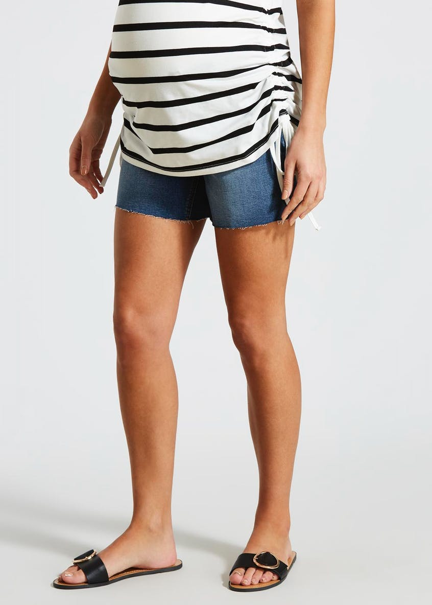 Maternity Under Bump Denim Shorts