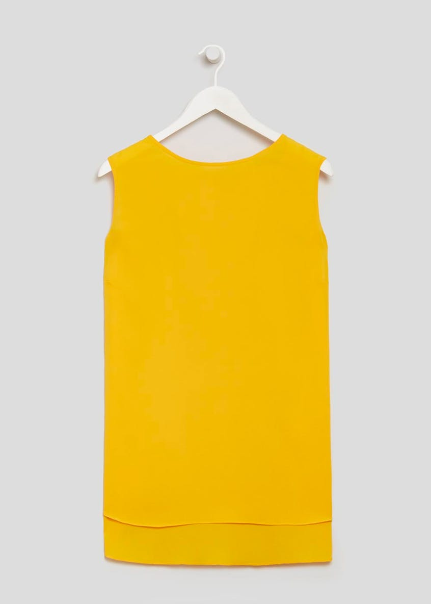 Papaya Curve Tie Back Sleeveless Blouse