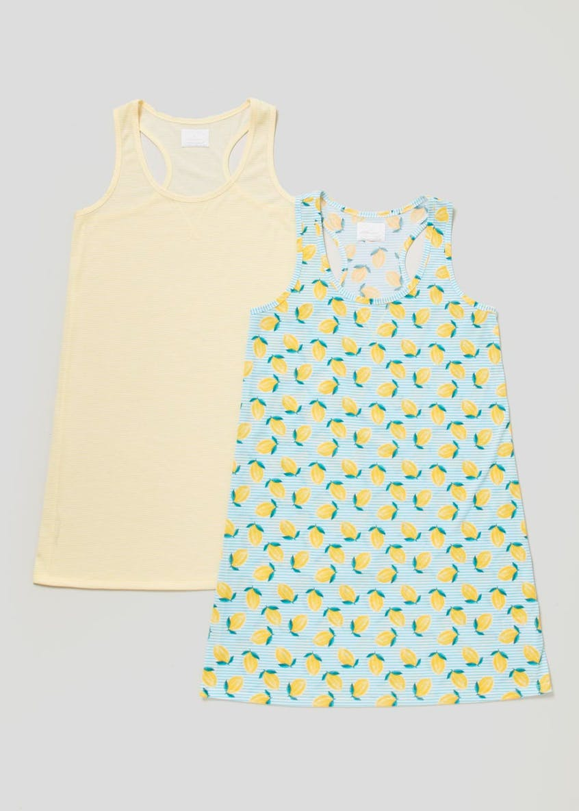 2 Pack Lemon Print Nighties