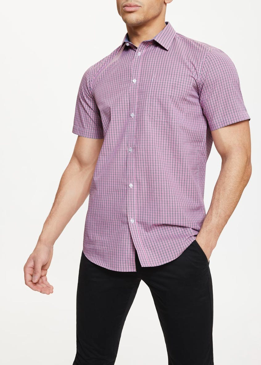 Short Sleeve Check Oxford Shirt