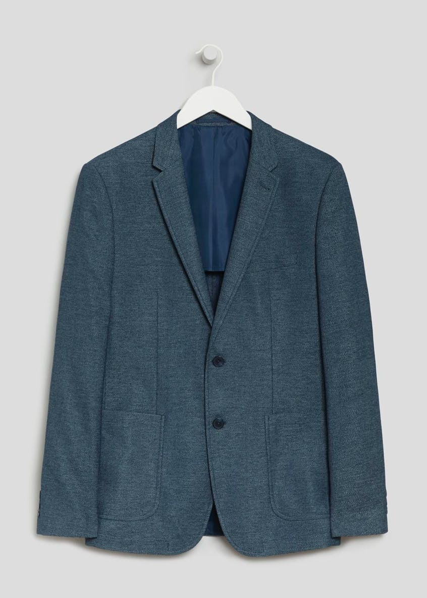 Gray Slim Fit Blazer