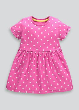 Girls Polka Dot Jersey Dress (9mths-6yrs)