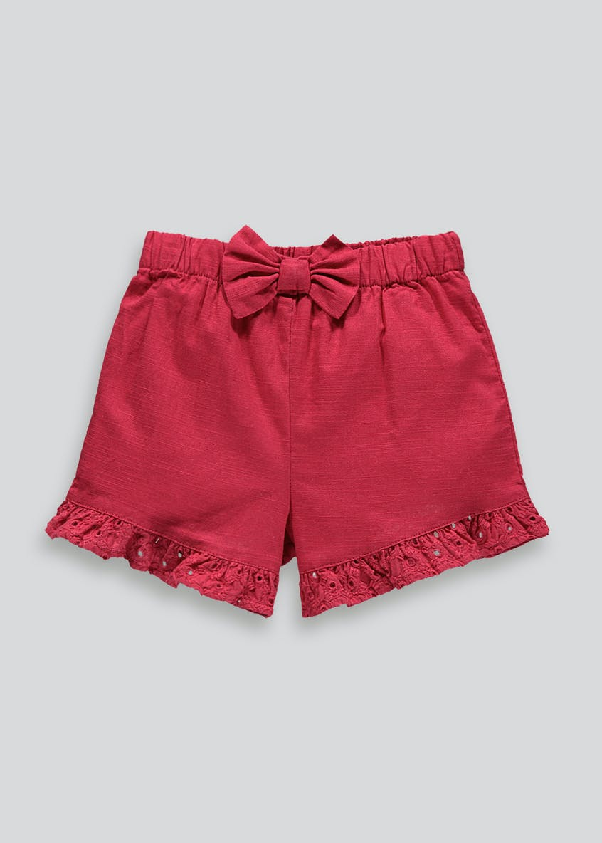 Girls Broderie Shorts (9mths-6yrs)