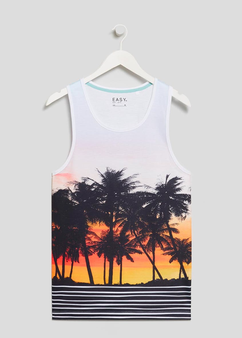 Palm Tree Sublimation Print Vest