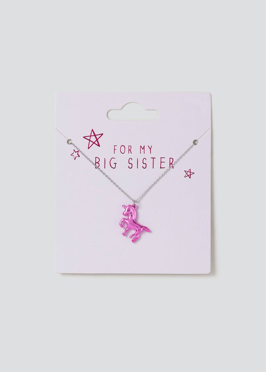 For My Big Sister Unicorn Necklace