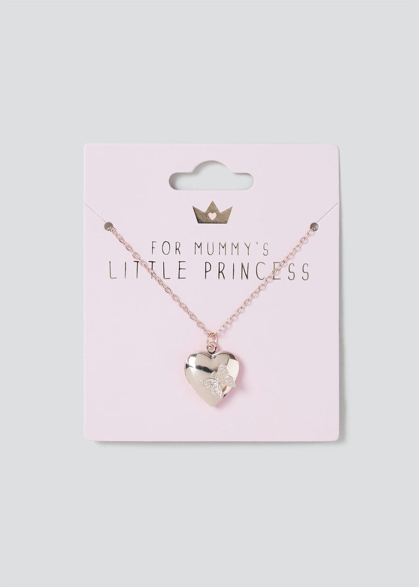 For Mummy's Little Princess Heart Locket Necklace