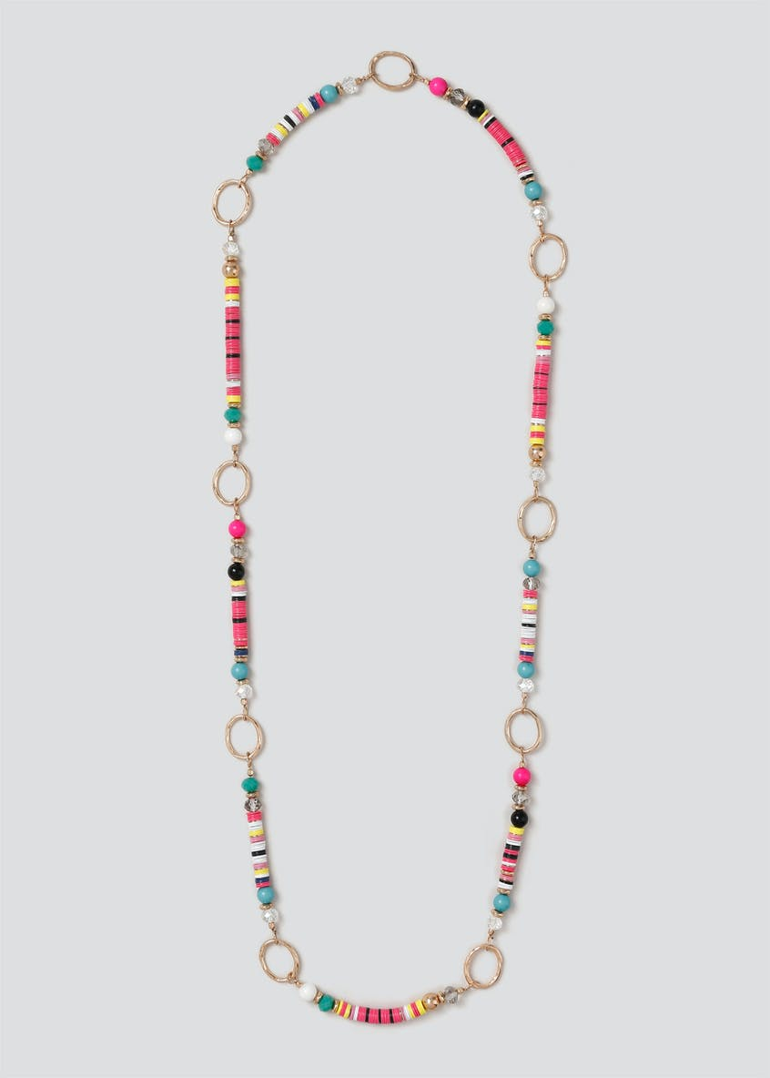 Neon Sequin Rope Necklace
